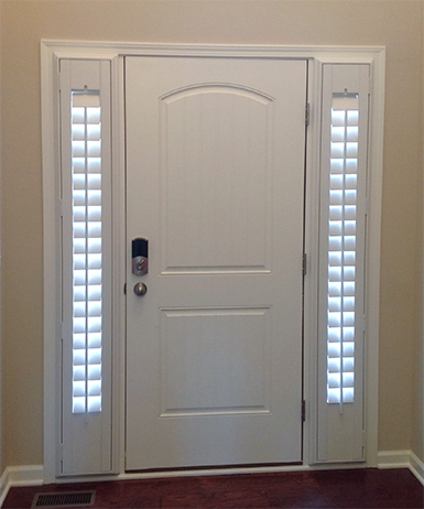 Shutters on the entry sidelights and front doors | Taylor Shutters