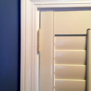 """I just had this trim installed, I don't want to cover my beautiful molding"" Don't worry we don't have to completely cover the trim. The shutter frame can mount to a specific point that highlights and adds beauty to what you already have."